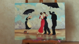 "Copy: Oil painting ""The Singing Butler"""