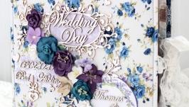 Большой свадебный альбом ручной работы , подарок молодоженам