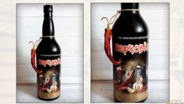 Графин штоф для спиртного Перцовка Бутылка для домашних крепких напитков