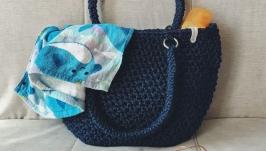 Вязаная пляжная сумка