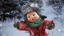 Іграшка новорічна ′Хлопчик на лижах′