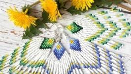 Длинные сережки из бисера