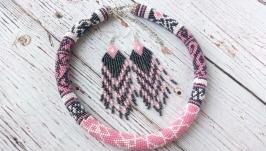 Комплект украшений Розовый туман
