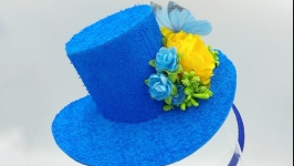 Капелюшок синьо-жовтий