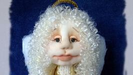 Ангел Хранитель со свечой кукла (в золотом платье)