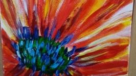 Картина акрилом ′Цветок′