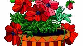 Комплект раскрасок-антистресс ′Цветы′
