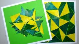 Головоломка-мозаика ручной работы из плотной бумаги