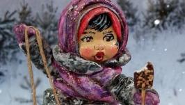 Іграшка новорічна ′Дівчинка з морозивом′