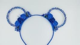 Вушка Мінні сині