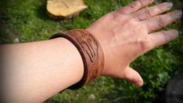 Кожаный браслет Кельтский Волк