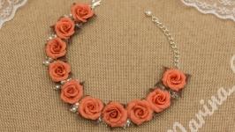 Браслет Карамельные розы