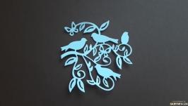 Вырубка для скрапбукинга Птички на ветке , декор для скрапбукинга