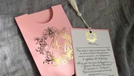 Запрошення на весілля з монограмою