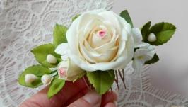 Гребень свадебный с цветами