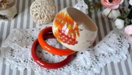 Комплект дерев'яних браслетів Чарівна осінь