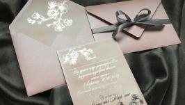 Запрошення з покриттям сріблом