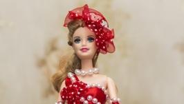 Кукла шкатулка Девушка в красном