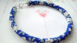 Вишиванка Білим по синьому