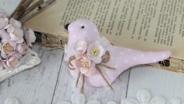 Нежная розовая птичка. Отличный подарок.