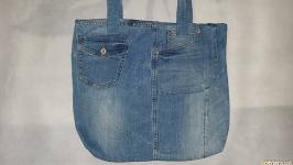 Джинсовая эко-сумка
