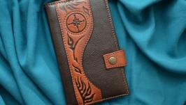 Кожаный кошелек ′РОЗА ВЕТРОВ′
