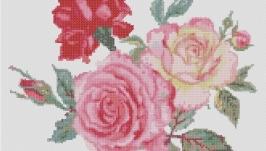Схема для вышивки картины - Букет роз