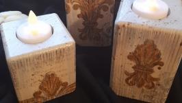 Подсвечники деревянные ′Геральдические′