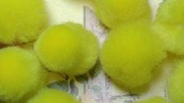 Textile Beads Yellow 10 pcs.