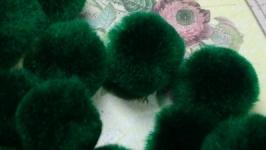 Textile Beads Green 10 pcs.