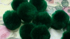 Textile Beads Green