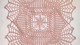 Салфетка квадратная кремовая
