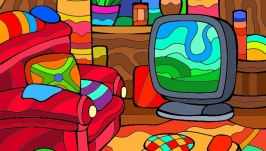 Antistress-coloring pictures set ′Home Sweet Home′