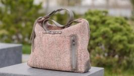 Валяная сумка ′Розовое серебро′