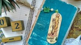 Закладка для книг деревянная ′Кошка′