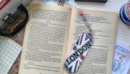 Закладка для книг деревянная ′Лондон′