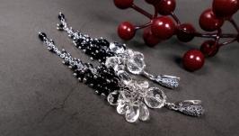 Серебряные серьги ′...Танцующая под серебристой луной...′