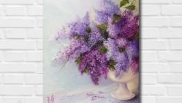 Картина маслом ′Цветы весны′ 45х35 см, холст на подрамнике, масло