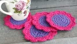Фиолетовые подставки под горячее Подставка под чашки
