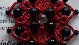 Кулон - кисть  Черная роза