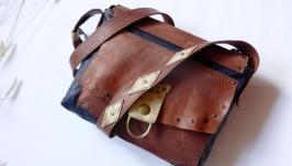 Кожаная сумка «Ковбойка»