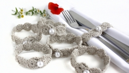 Льняные кольца для салфеток в стиле эко