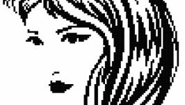 Схема-монохром ′Девушка′