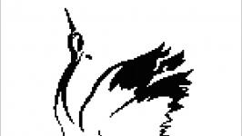 Схема-монохром ′Танцующий журавль′