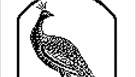 Схема-монохром ′Павлин′
