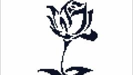 Схема-монохром ′Роза′