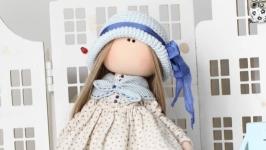 Даша интерьерная текстильная кукла