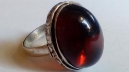 Кольцо 18 Гранат Альмандин натуральный Кольцо ручной работы размер 18