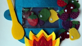 сумка-игралка ′Овощи, фрукты, ягоды′