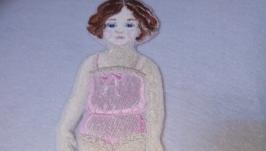 Кукла с комплектом одежды в стиле ретро